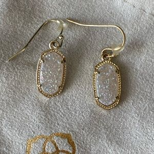Kendra Scott Lee Gold druzy earrings